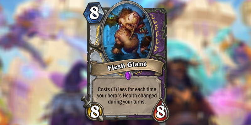 Flesh Giant is a New Priest & Warlock Card Revealed for Hearthstone's Scholomance Academy Expansion