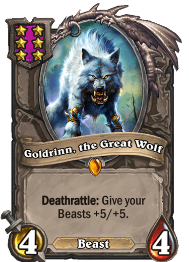 Goldrinn, the Great Wolf Card Image