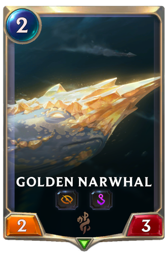 Golden Narwhal Card Image