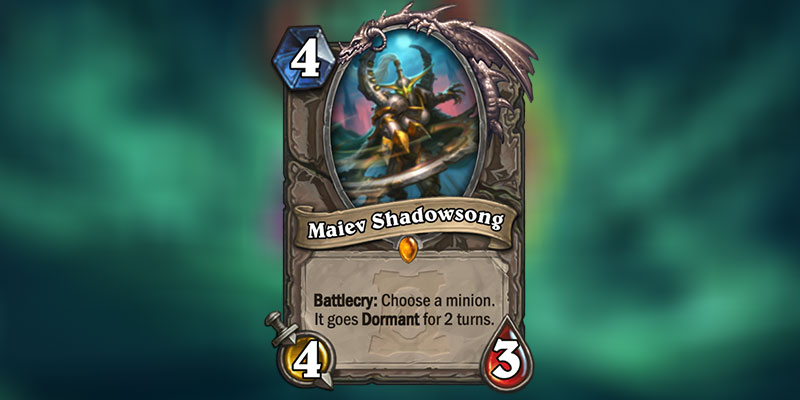 Maiev Shadowsong is a new Legendary Card Revealed for Hearthstone's Ashes of Outland Expansion
