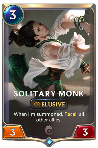 Solitary Monk Card Image