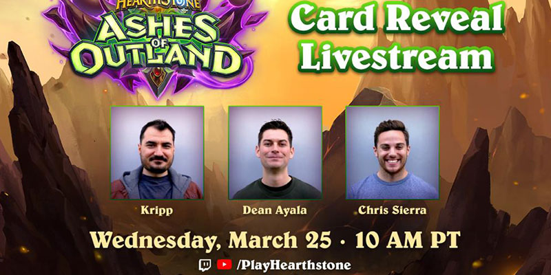 Kripparrian Joins Dean Ayala and Chris Sierra for the Ashes of Outland Final Reveal Stream on Wednesday