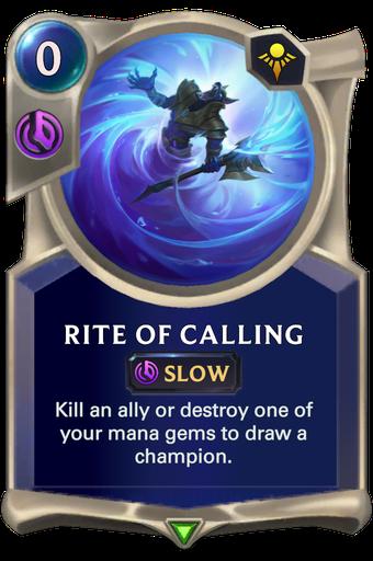 Rite of Calling Card Image