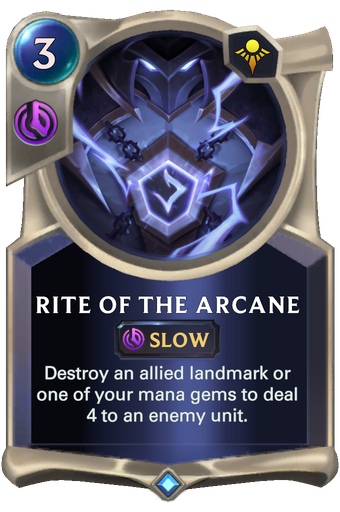 Rite of the Arcane Card Image