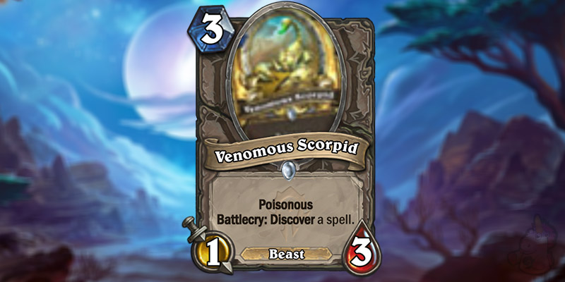 Blizzard Reveals a New Forged in the Barrens Card - Venomous Scorpid