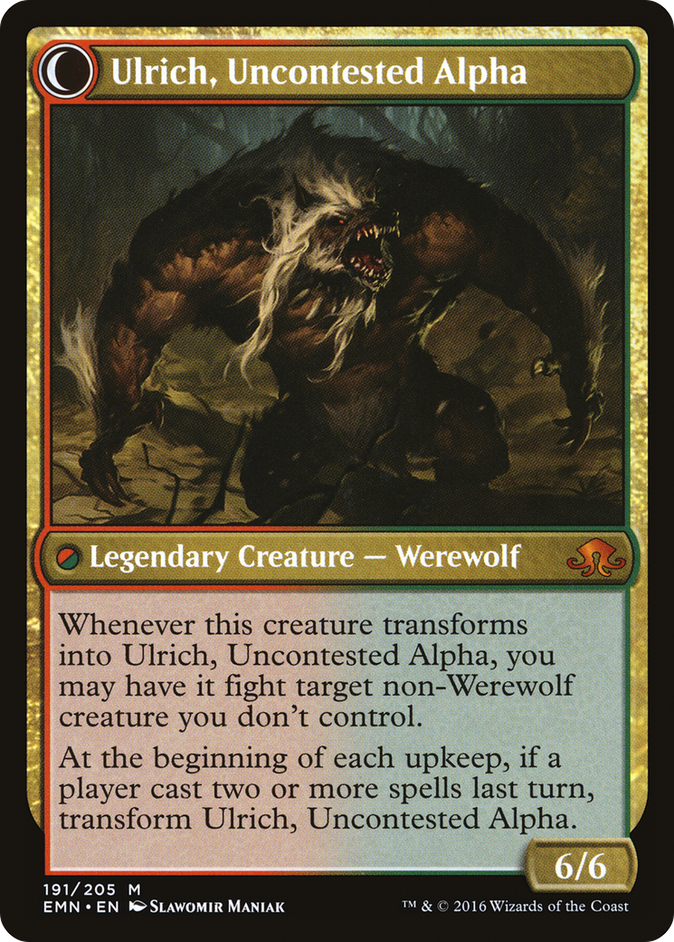 Ulrich of the Krallenhorde // Ulrich, Uncontested Alpha Card Image