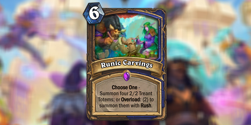 Runic Carvings is a New Druid & Shaman Card Revealed for Hearthstone's Scholomance Academy Expansion