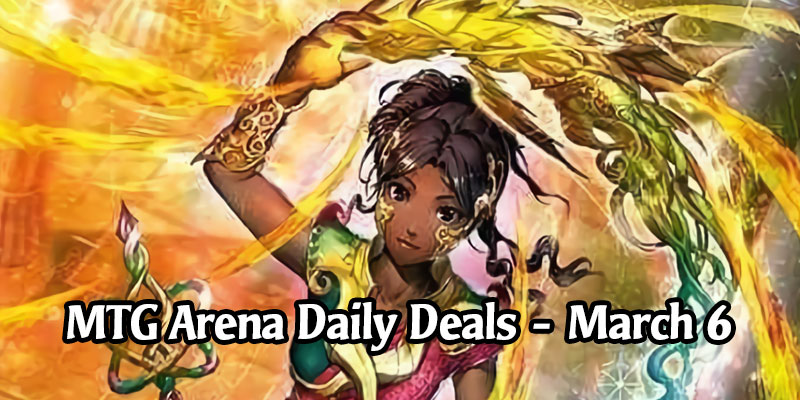 Daily Store Deals in MTG Arena for March 6, 2020 - 80% Off Japanese Saheeli Hisashi Momose Sleeve