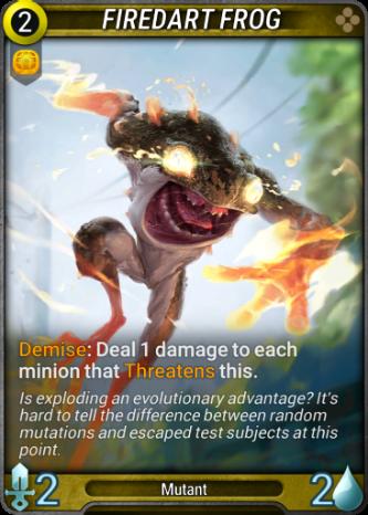 Firedart Frog Card Image