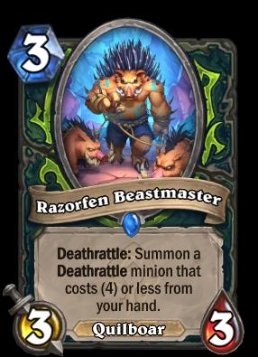 Razorfen Beastmaster Card Image