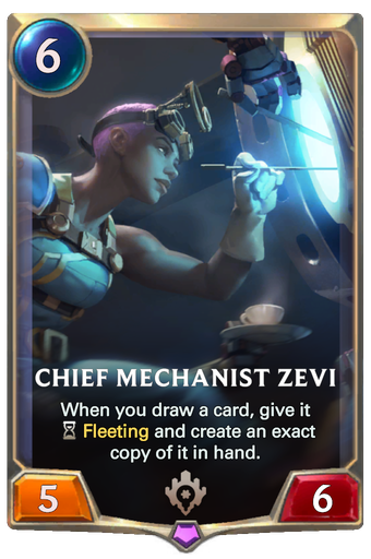 Chief Mechanist Zevi Card Image