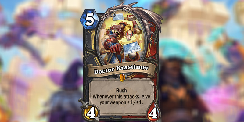 Doctor Krastinov is a New Rogue & Warrior Legendary Revealed for Hearthstone's Scholomance Academy Expansion