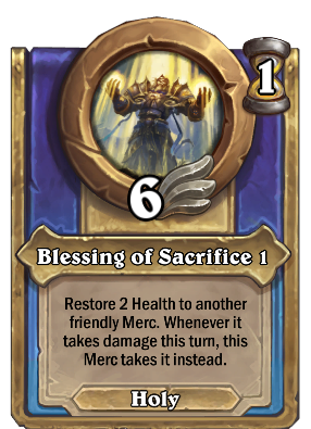 Blessing of Sacrifice 1 Card Image