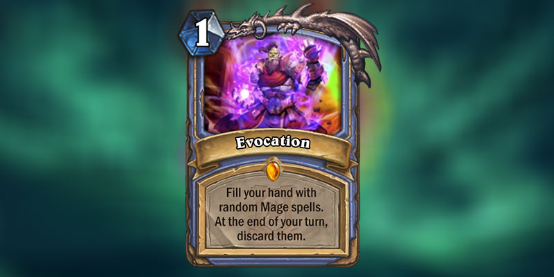 Evocation is a new Legendary Mage Spell Revealed for Hearthstone's Ashes of Outland Expansion