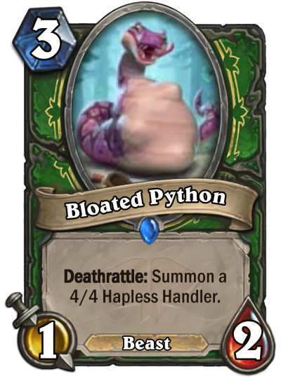 Bloated Python Card Image