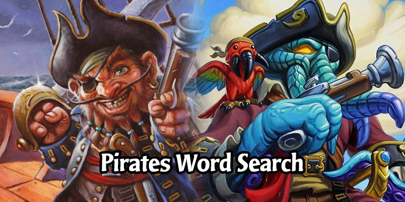 Find the Missing Crew in Our Pirate Word Search