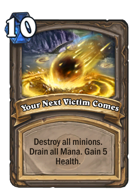 Your Next Victim Comes Card Image
