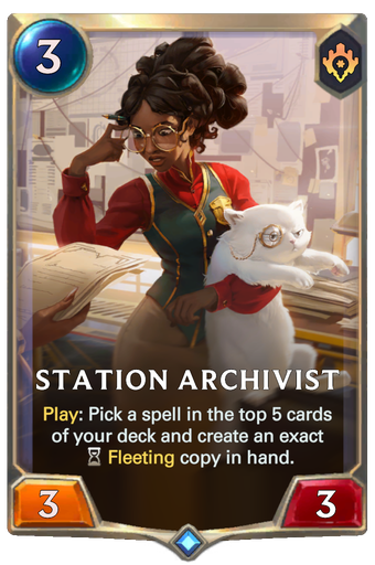 Station Archivist Card Image