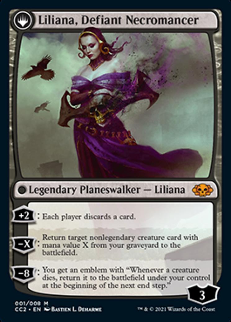Liliana, Heretical Healer // Liliana, Defiant Necromancer Card Image