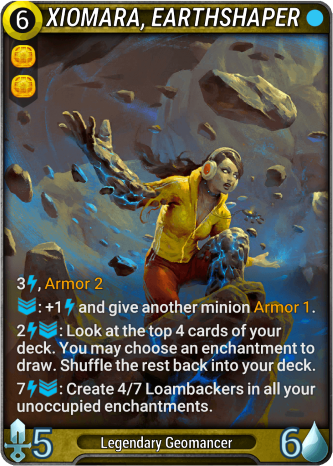 Xiomara, Earthshaper Card Image