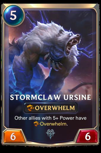Stormclaw Ursine Card Image