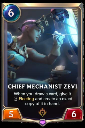 Chief Mechanist Zevi Card Image