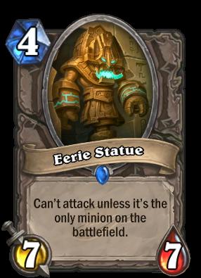 Eerie Statue Card Image