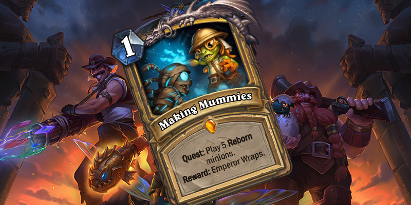 Two Uldum Card Reveals - Making Mummies (Paladin Quest) & Murmy