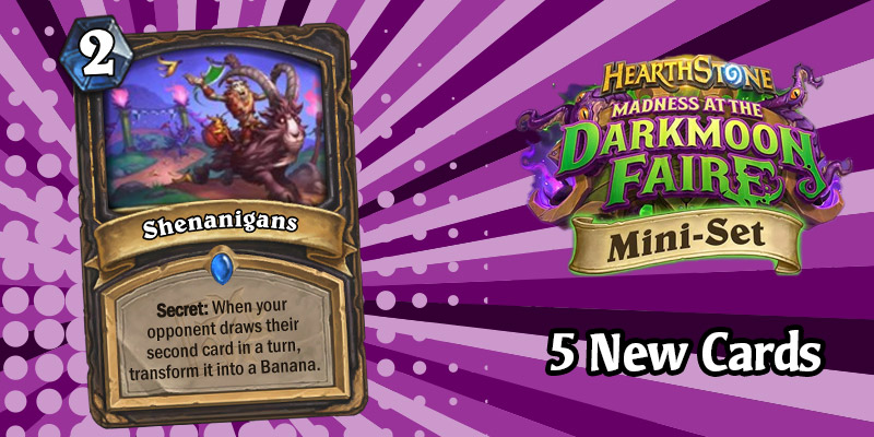 5 More Darkmoon Faire Mini Set Card Reveals - Rogue Secrets, Hunter Beasts, Warrior Weapon, and Holy-rific Rally!
