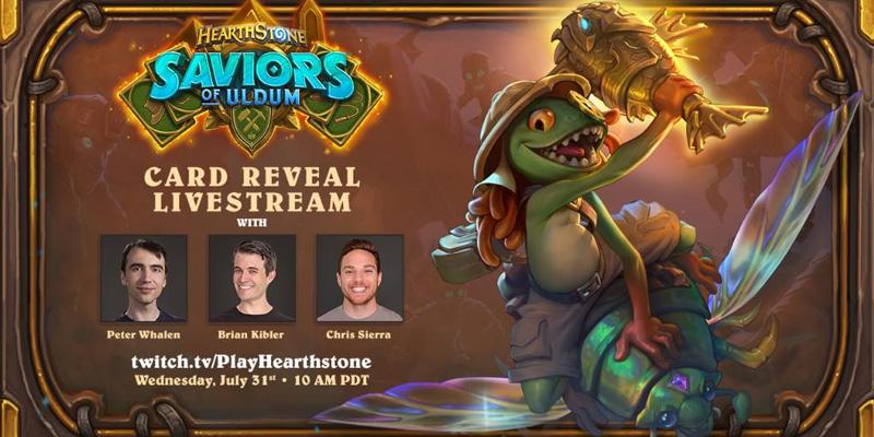 Uldum Final Reveal Stream w/ Brian Kibler, Peter Whalen, & Chris Sierra - July 31