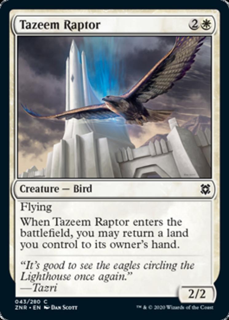 Tazeem Raptor Card Image