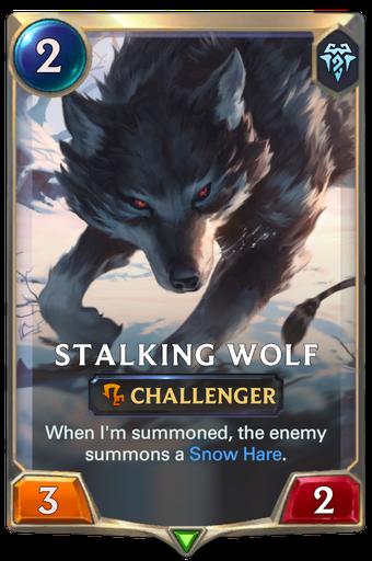 Stalking Wolf Card Image