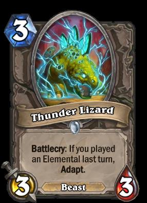 Thunder Lizard Card Image