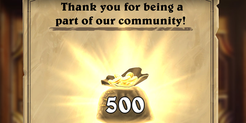 """Hearthstone Patch 19.2 is Live! Get Your Free """"Blizzard's Apology"""" 500 Gold and 5 Darkmoon Faire Packs By Logging In"""