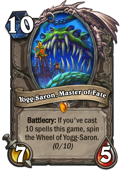 Yogg-Saron, Master of Fate Card Image