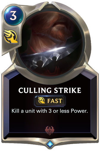 Culling Strike Card Image