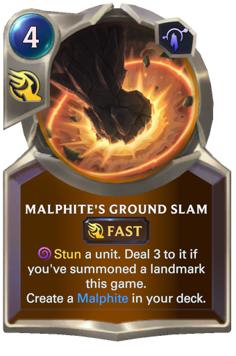 Malphite's Ground Slam Card Image