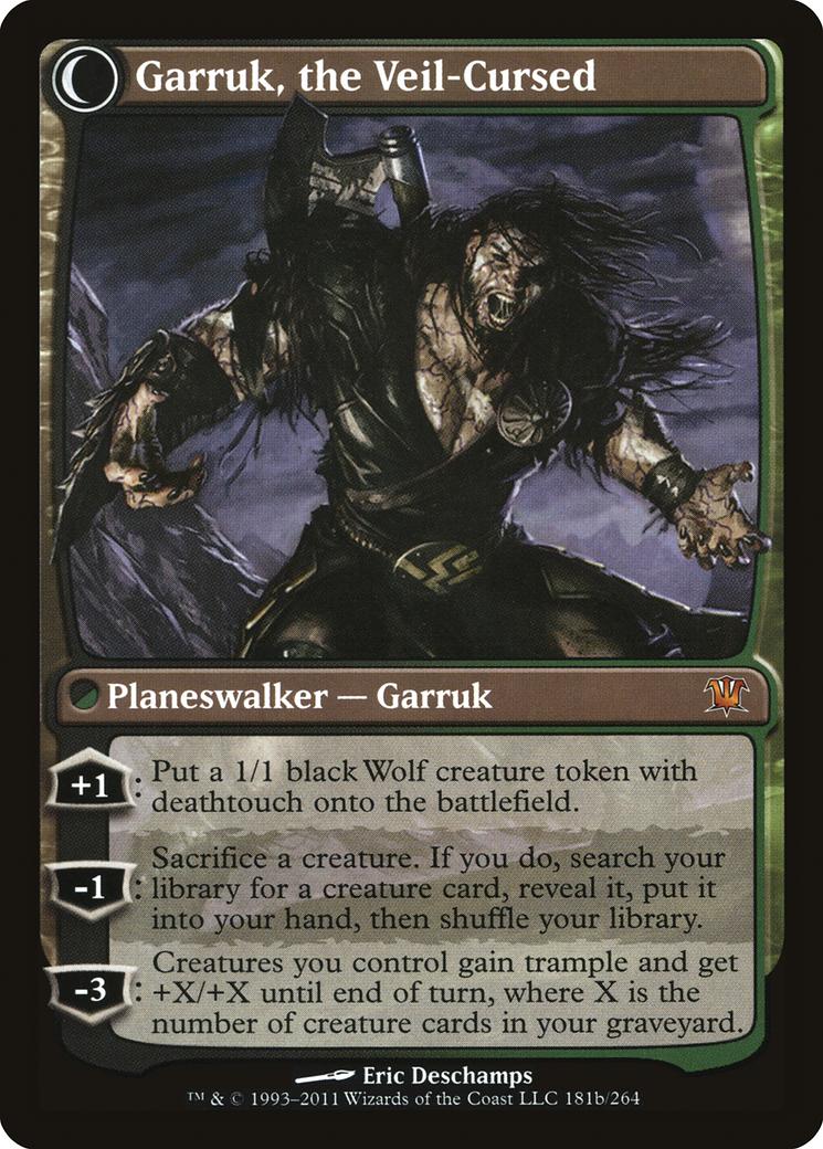 Garruk Relentless // Garruk, the Veil-Cursed Card Image