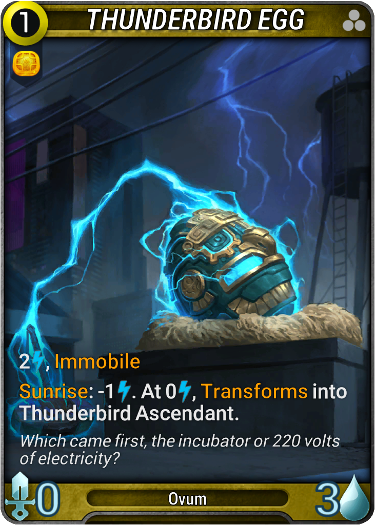 Thunderbird Egg Card Image