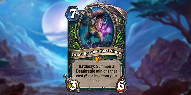Gamespot Reveals a New Forged in the Barrens Demon Hunter Card - Death Speaker Blackthorn