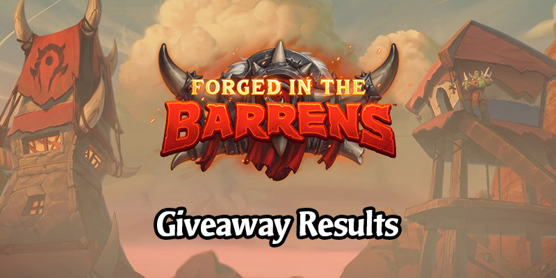 Out of Cards Forged in the Barrens Giveaway Results!