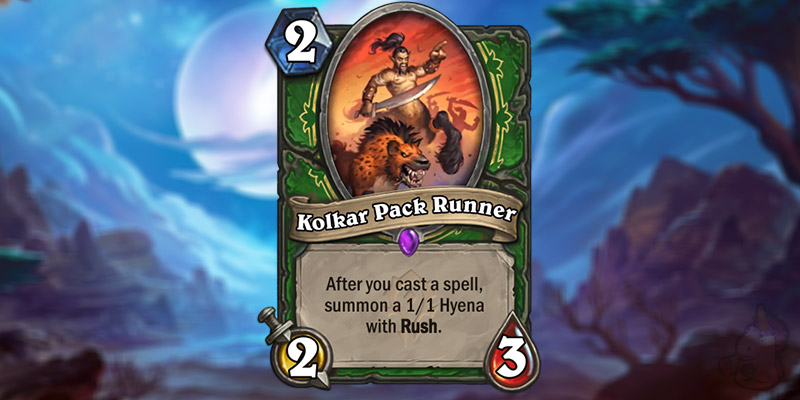 Blizzholics Reveals a New Forged in the Barrens Hunter Card - Kolkar Pack Runner