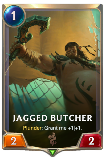 Jagged Butcher Card Image