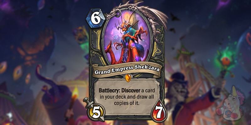 Grand Empress Shek'zara is a New Rogue Legendary Revealed for Hearthstone's Darkmoon Faire Expansion