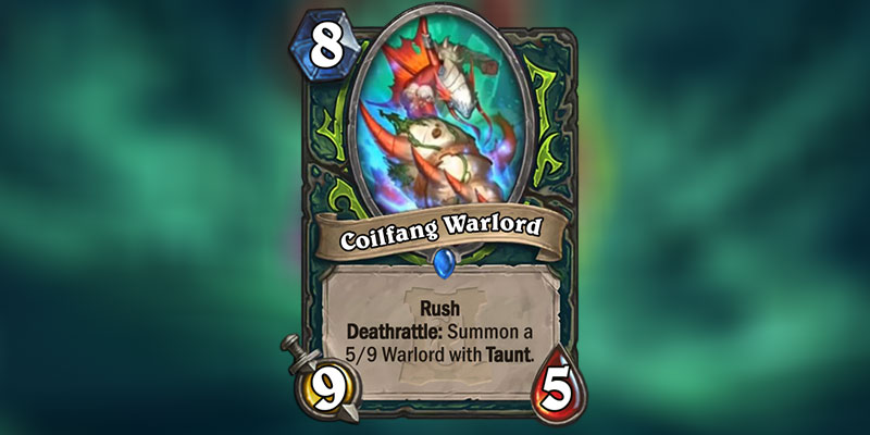 Coilfang Warlord is a new Demon Hunter Card Revealed for Hearthstone's Ashes of Outland Expansion