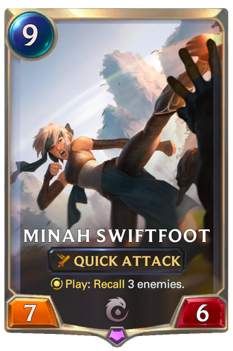 Minah Swiftfoot Card Image