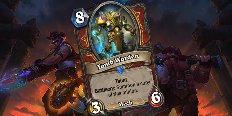 Uldum Warrior Card Reveal - Tomb Warden