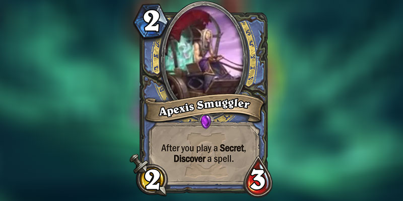 Apexis Smuggler is a new Mage Minion Revealed for Hearthstone's Ashes of Outland Expansion