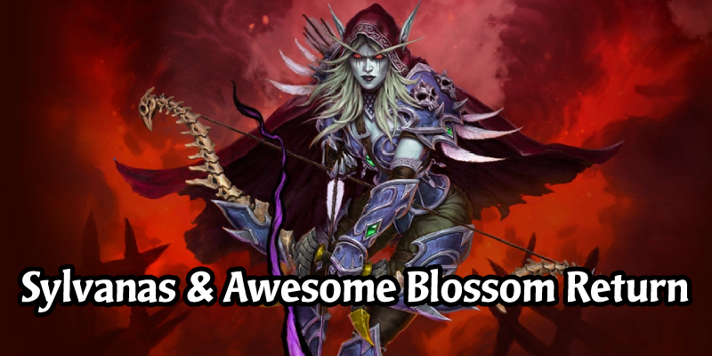 Sylvanas Windrunner Hunter Hero + Banshee Queen Card Back and Awesome Blossom Card Back Are Now Available in the Hearthstone Shop
