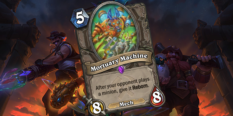 Uldum Card Reveal - Mortuary Machine